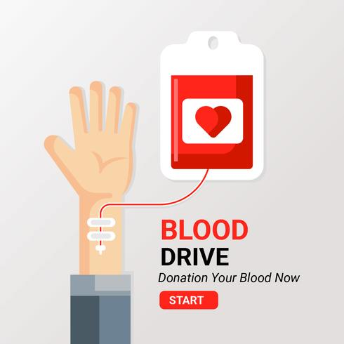 Blod Drive Illustration vektor