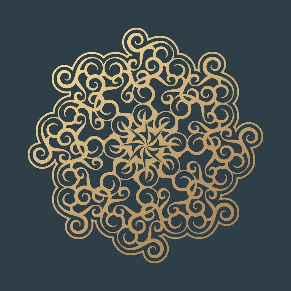 blommig mandala bakgrundsformgivningsmall vektor