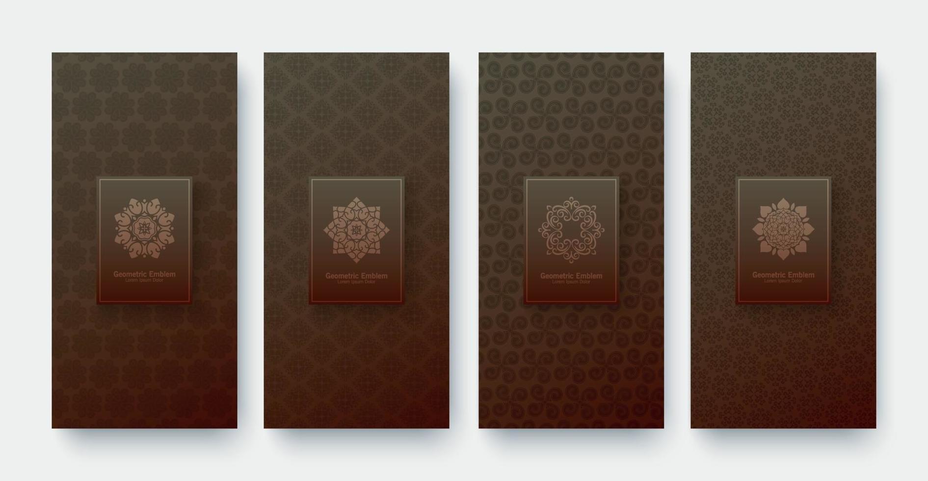 lyx banner bakgrund mönster design vektor