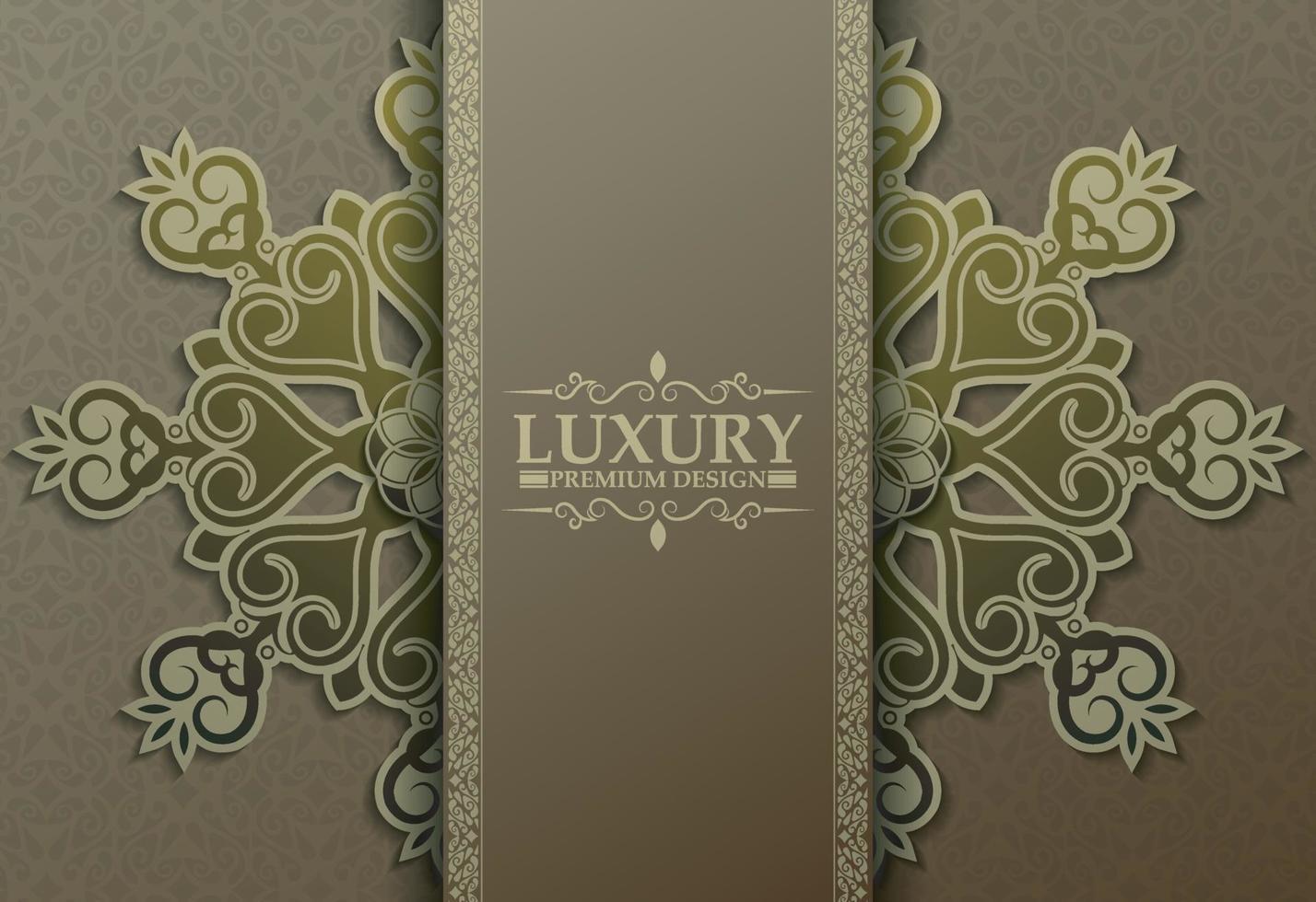 Premium-Luxus-Mandala-Hintergrundkonzept vektor