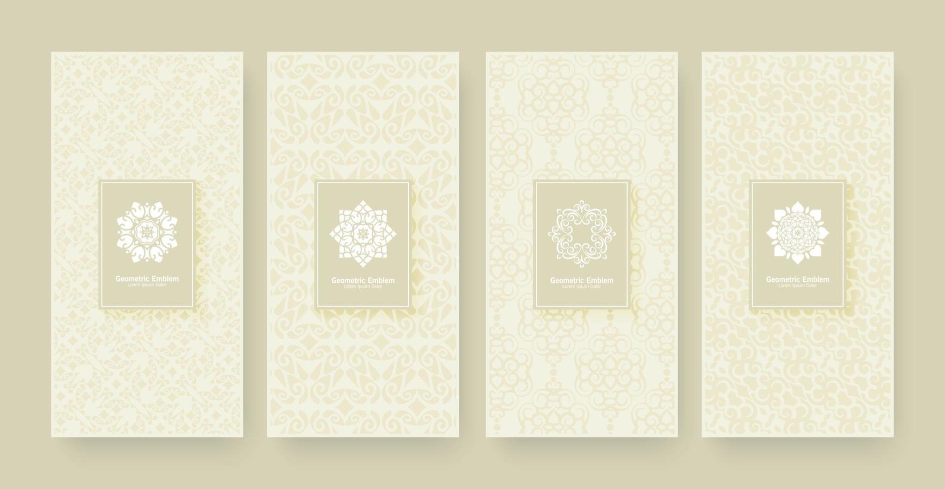 eleganter Banner Ornament Muster Design Hintergrund vektor