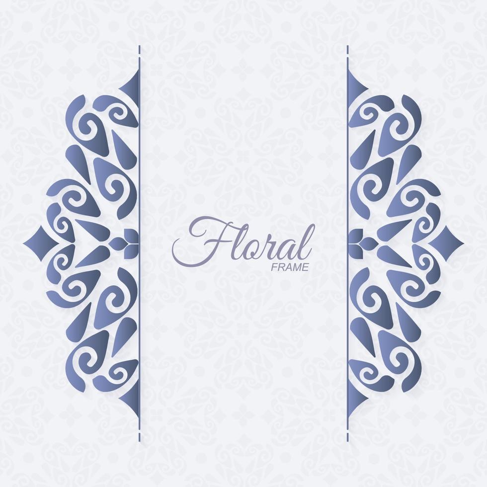 elegant dekorativ prydnadsram bakgrund vektor