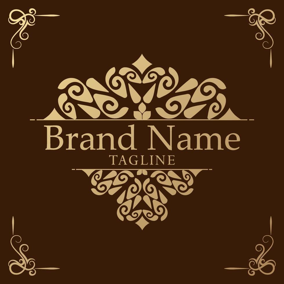 logotyp mall blomstrar kalligrafi eleganta prydnadslinjer. vektor