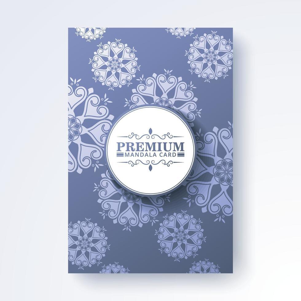 elegant mandala bakgrund täcka design vektor