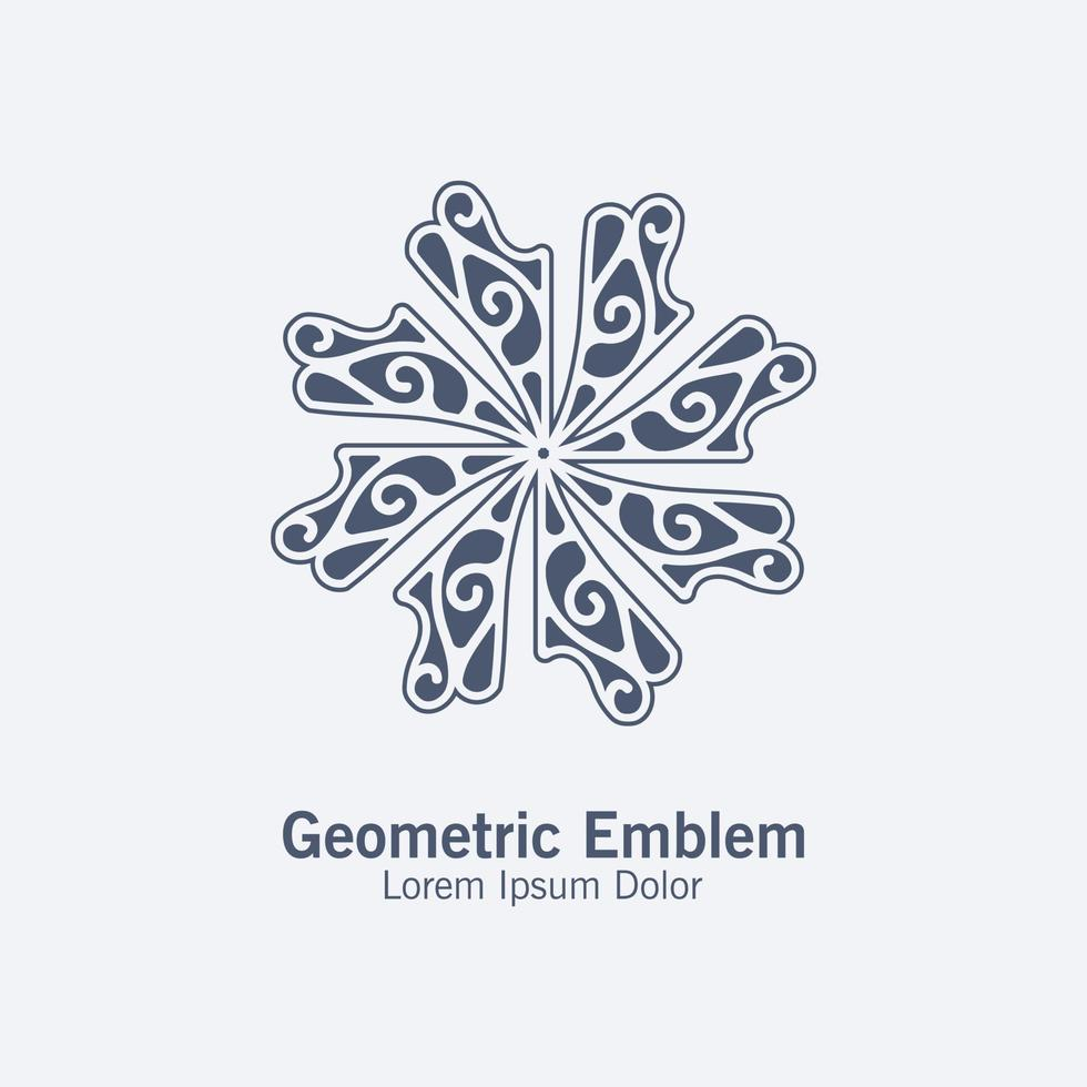elegant prydnad stil linje konst logotyp vektor