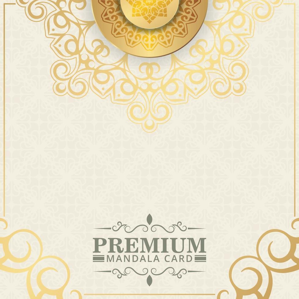 lyxig gul och guld blommig bakgrund vektor