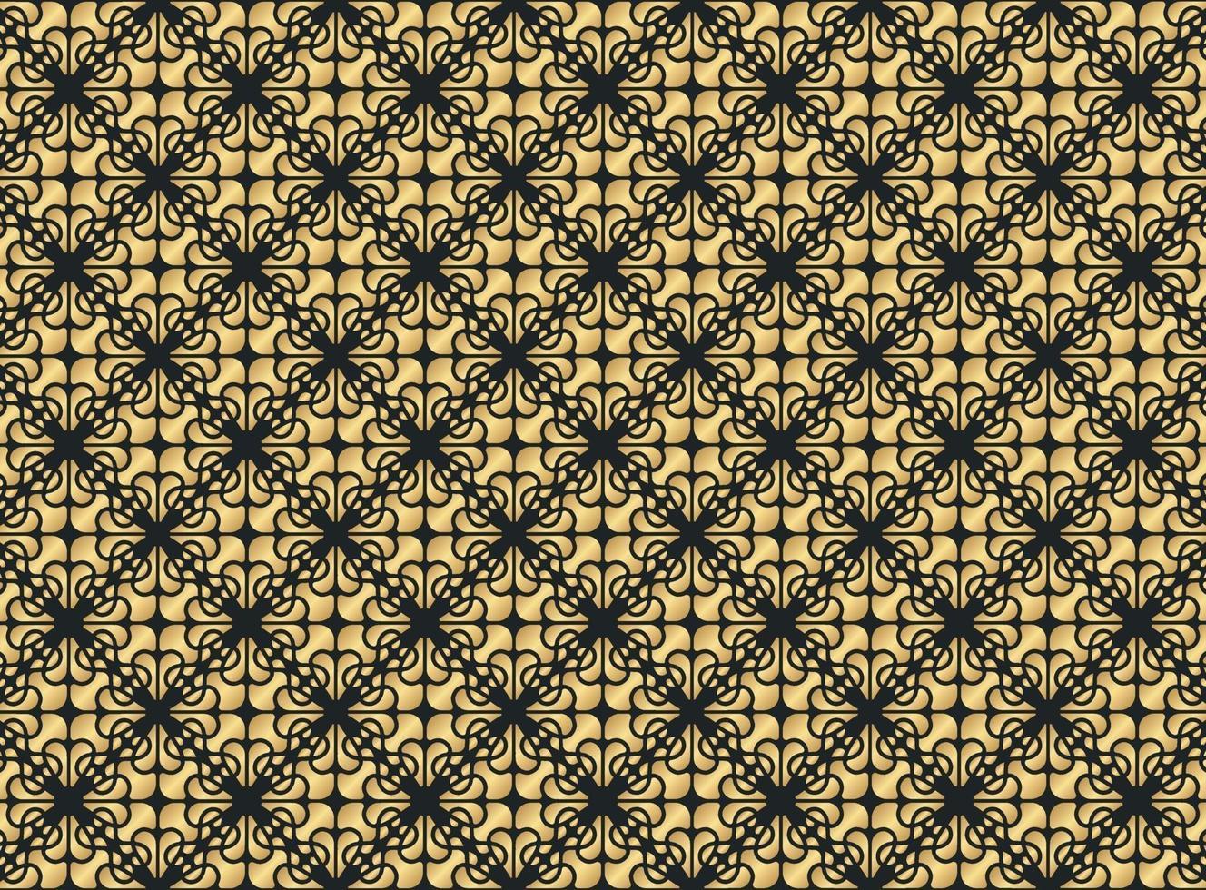 lyxig guld prydnad mönster design bakgrund vektor