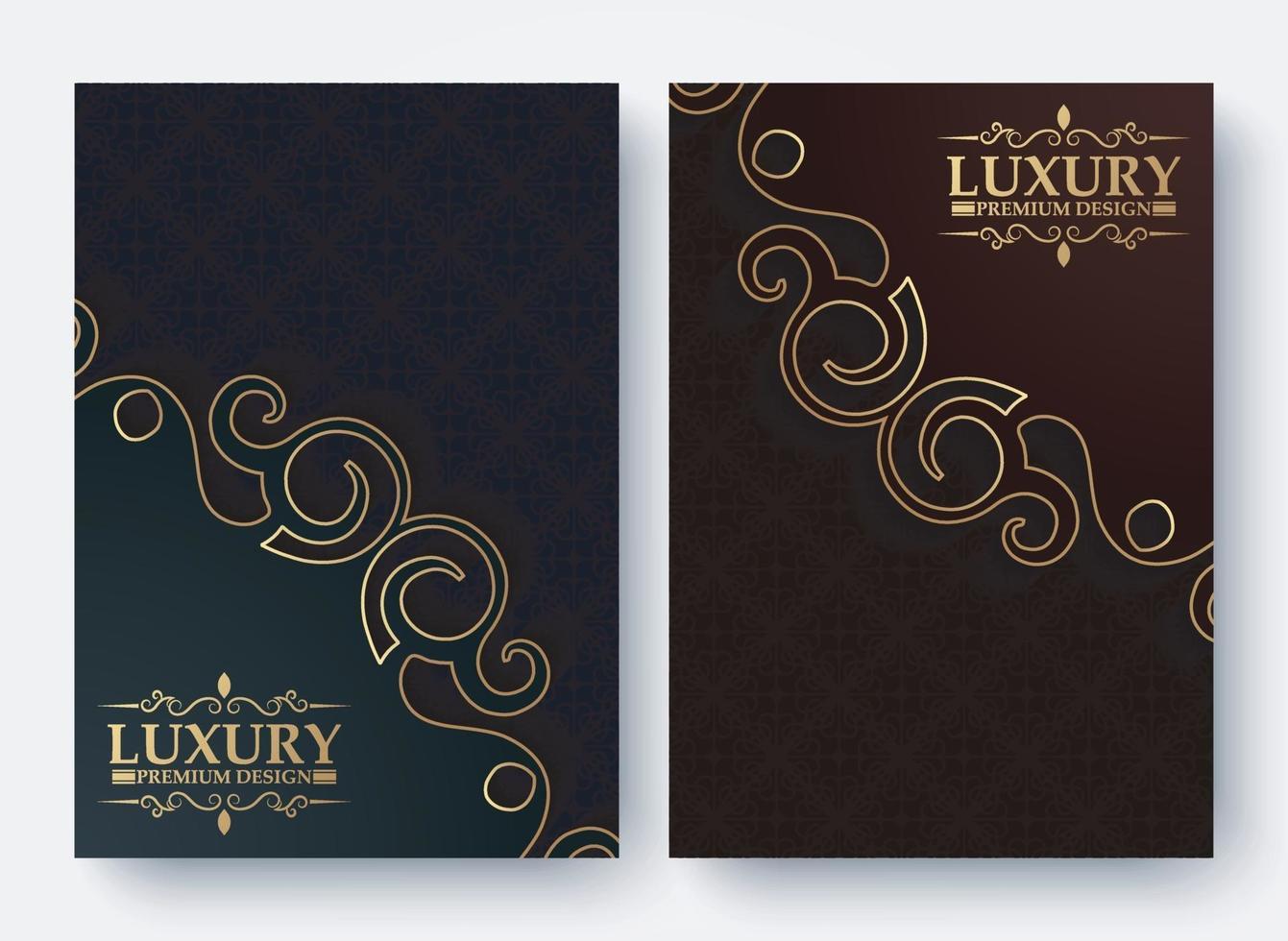 Luxus-Buchumschlag mit dekorativer Musterstruktur vektor