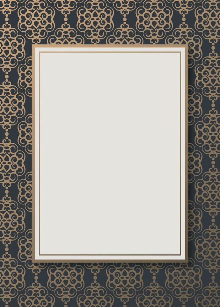 Luxus geometrisches Muster Flyer Text Design vektor