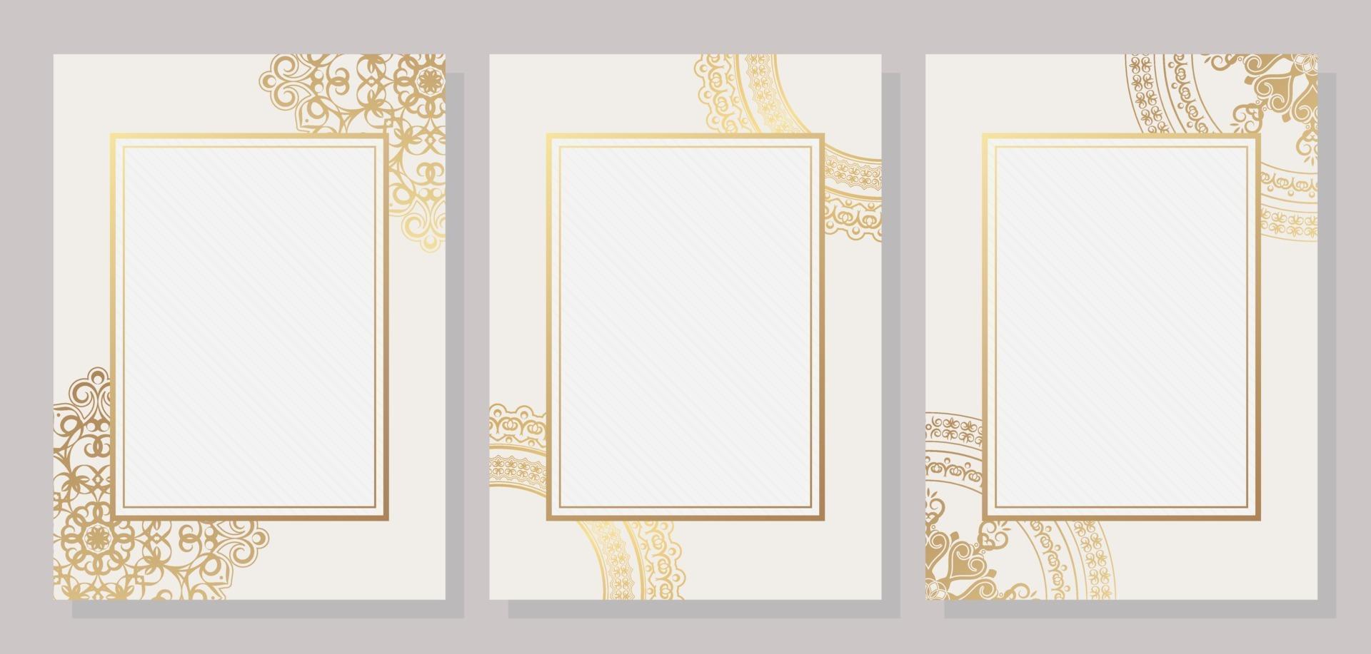 elegant geometrisk flygblad mall text design vektor