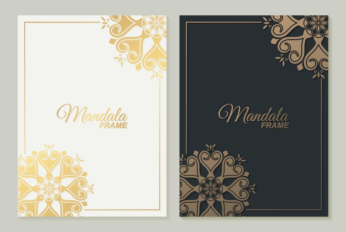 Luxusrahmen Mandala Design-Vorlage vektor