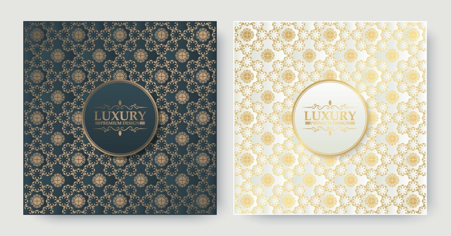 Luxus Ziermuster Muster Textur Hintergrund vektor