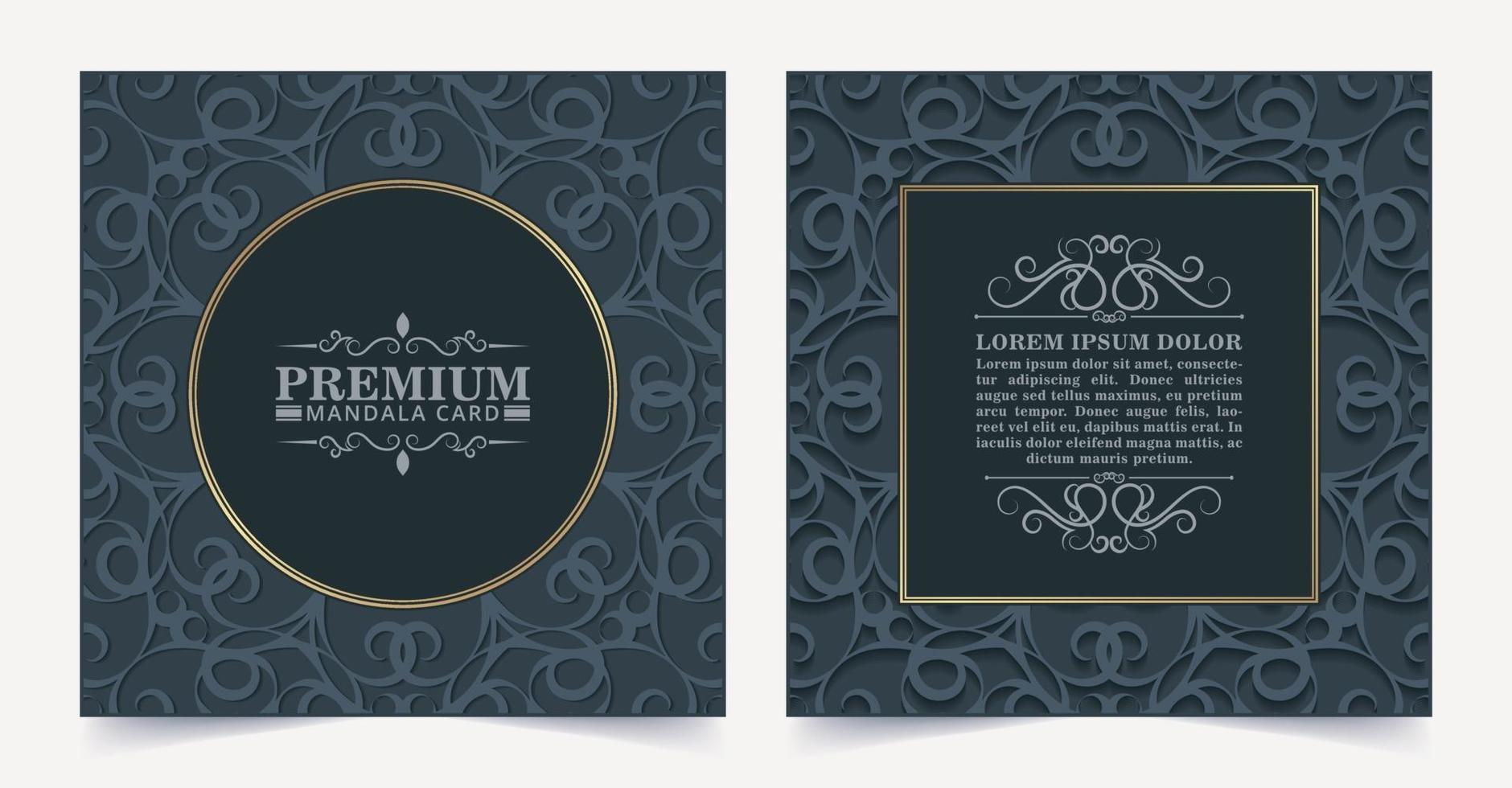 Luxus dunkle Blumen dekorative Karte vektor