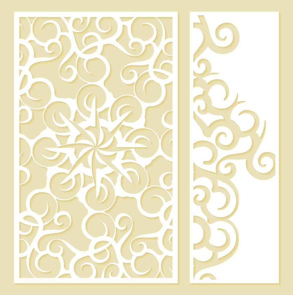 sömlös stansad dekorativ mönstermall vektor