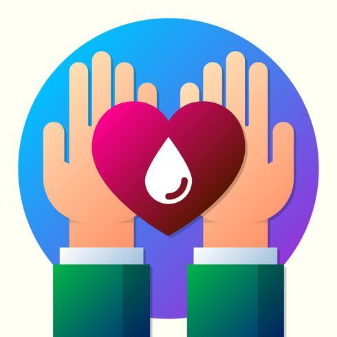 Blod Donation Sign And Symbol Illustration vektor