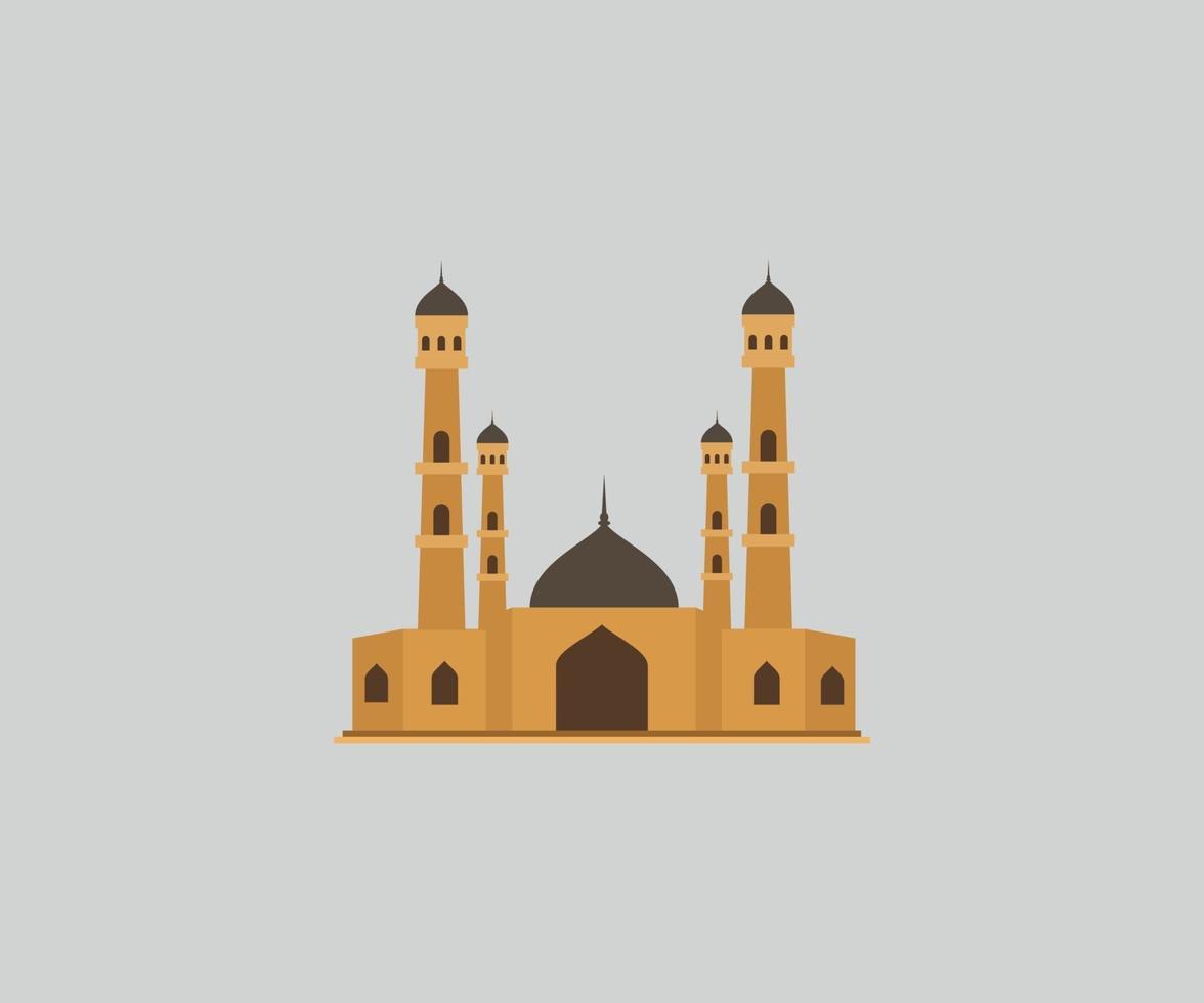 ramadan kareem moské gyllene vektor