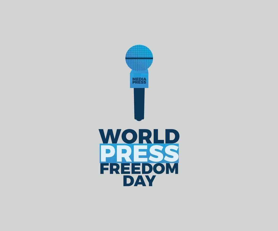 världspress frihetsdag vektor grafisk design med blå mikrofon
