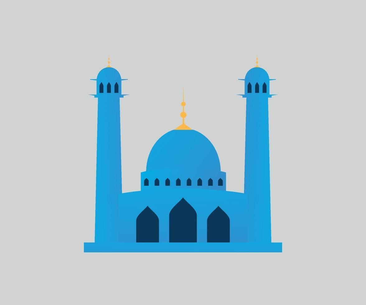 ramadan kareem moské blå vektorgrafik vektor