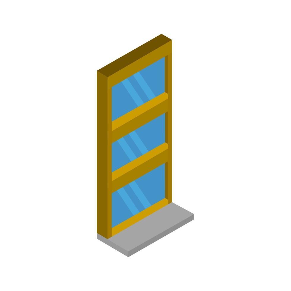isometrisches Fenster auf weißem Hintergrund vektor