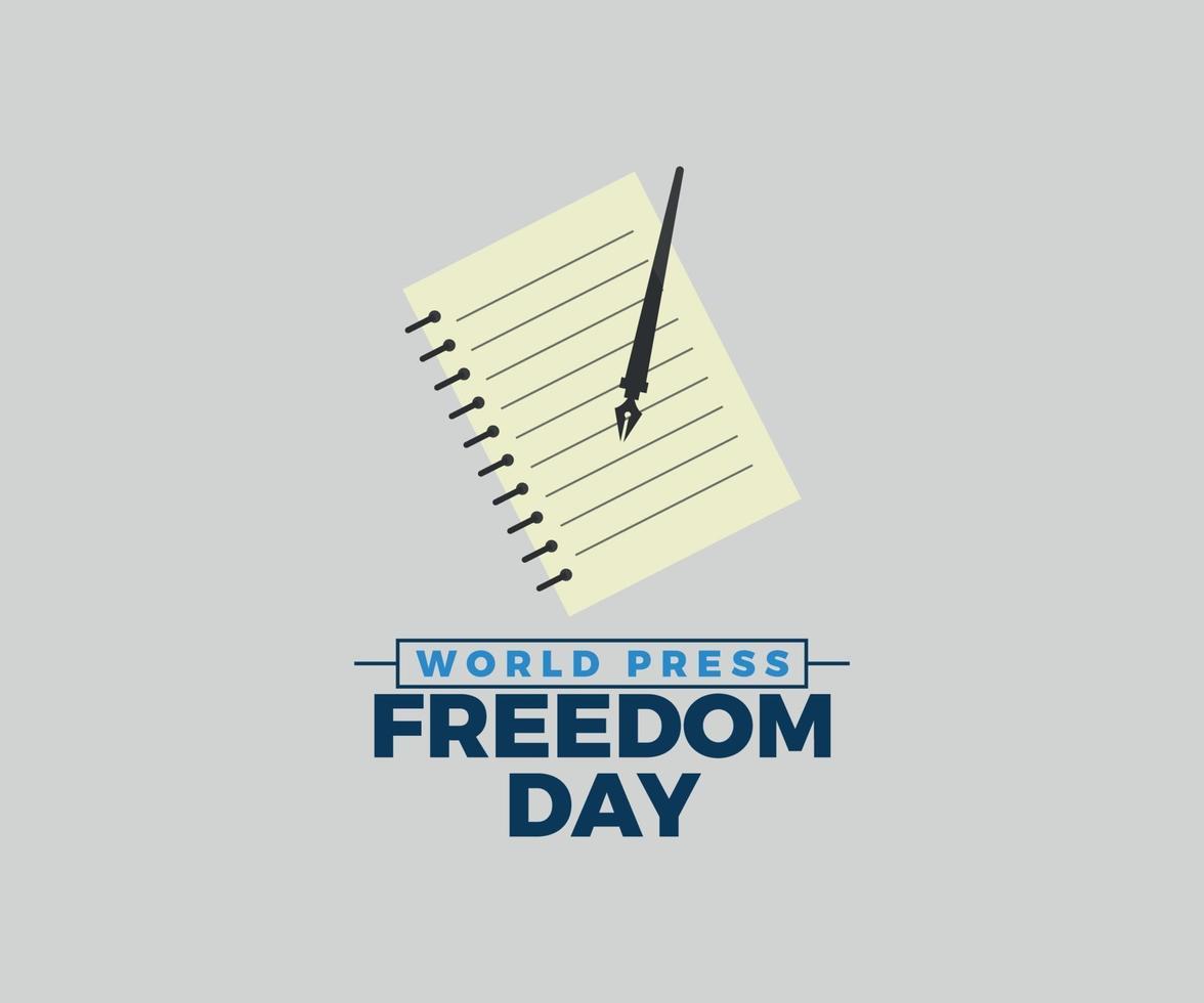 världspress frihetsdag vektorgrafik vektor