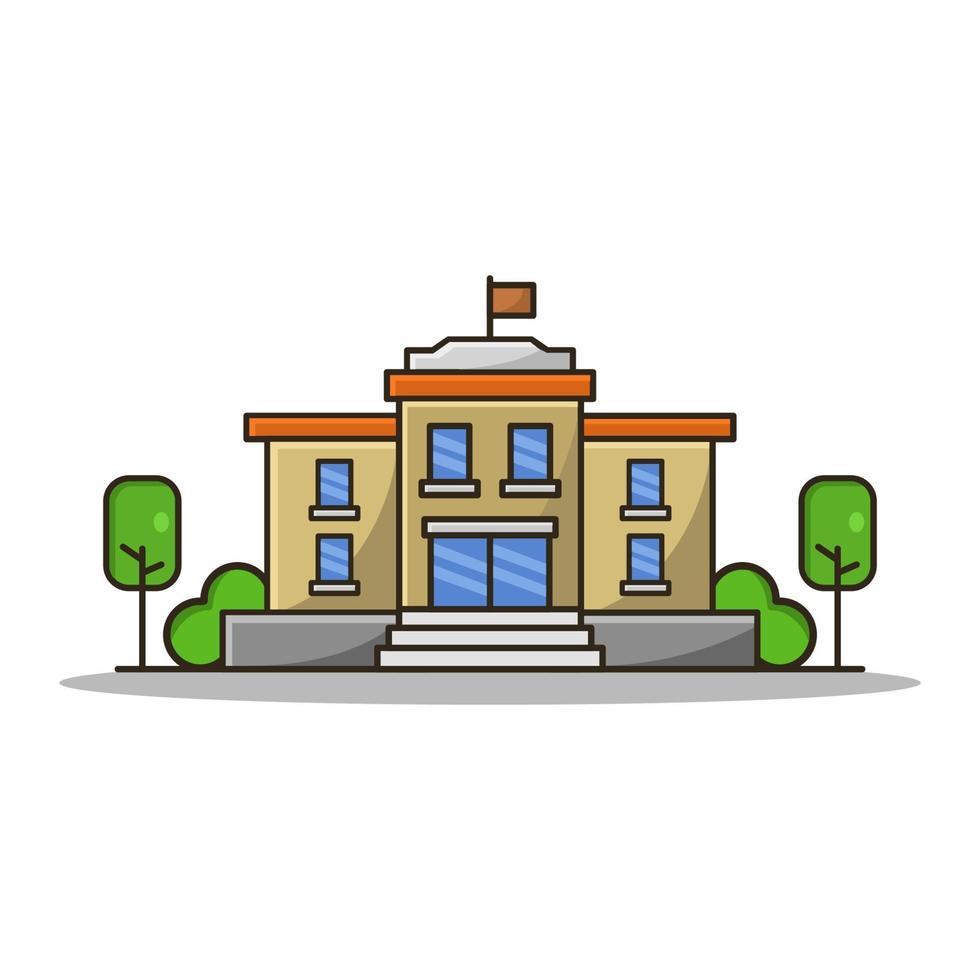 Schule auf weißem Hintergrund vektor