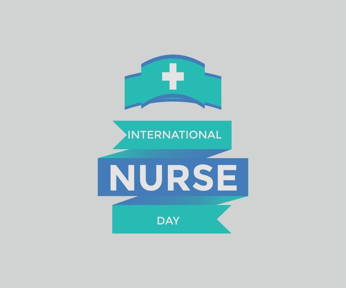internationell sjuksköterskadag vektorgrafik vektor