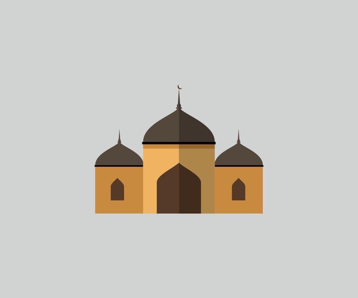 ramadan kareem-moskén gyllene vektorgrafik vektor