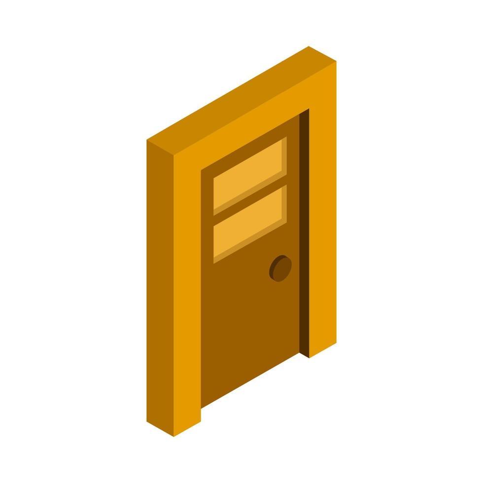 isometrisk dörr på vit bakgrund vektor