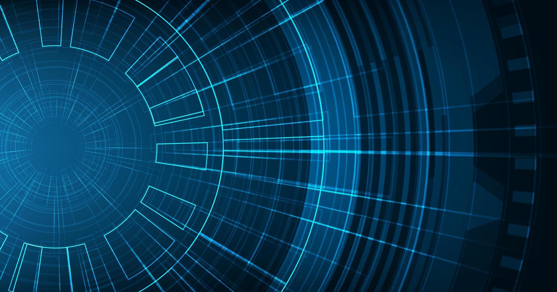 modern kretsmikrochip på teknikbakgrund, högteknologisk digital och säkerhetskonceptdesign vektor