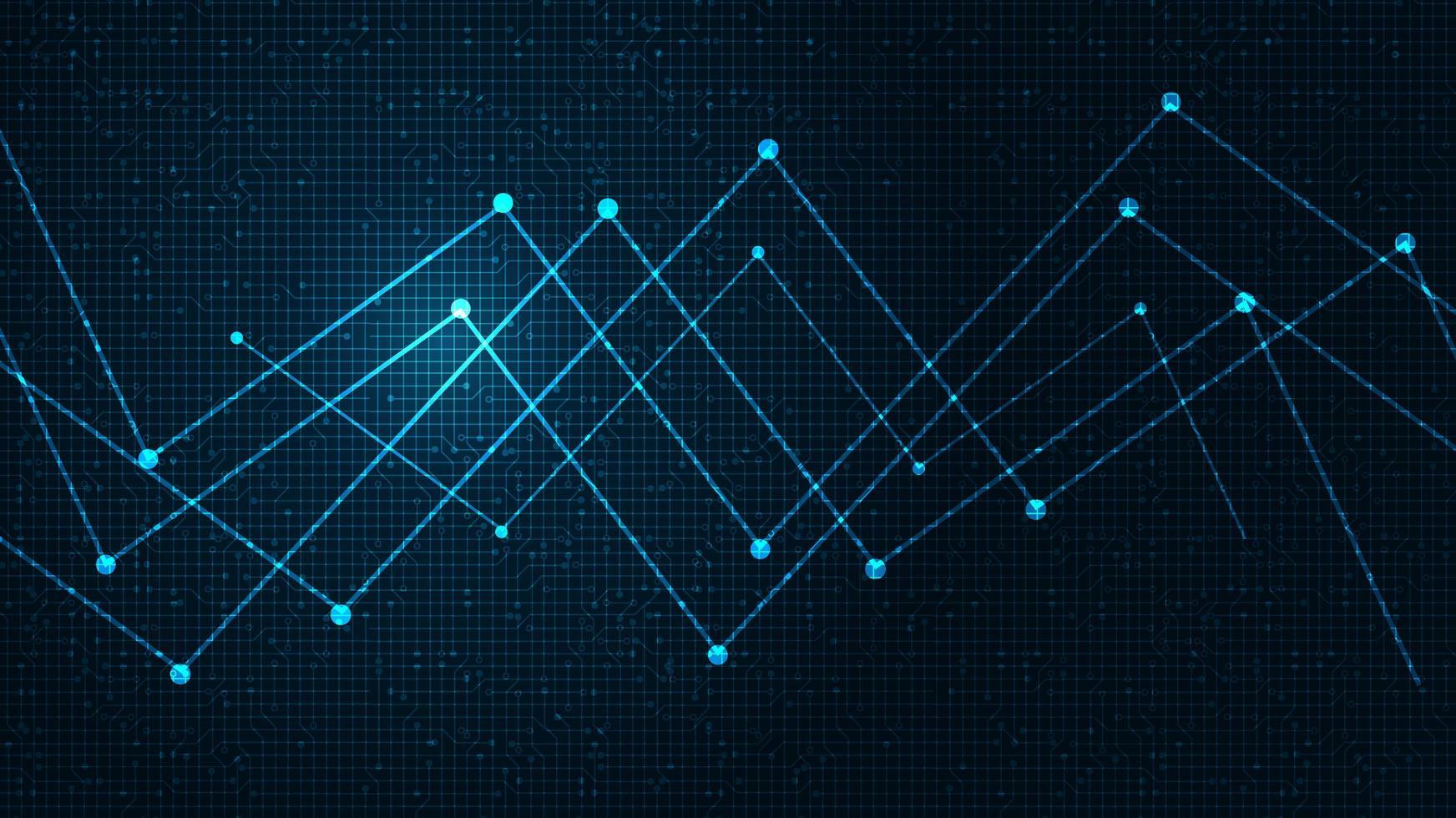 framtida nätverksmikrochip på teknikbakgrund, högteknologi, säkerhet och dela konceptdesign vektor