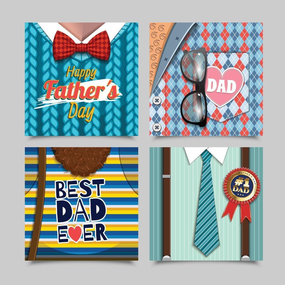 lycklig fars dag gratulationskort vektor