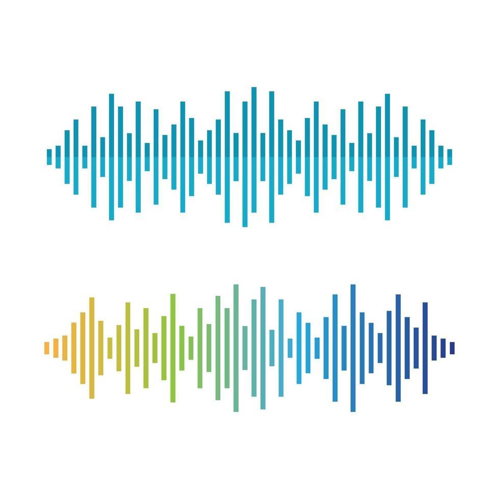 Schallwellenbilder eingestellt vektor
