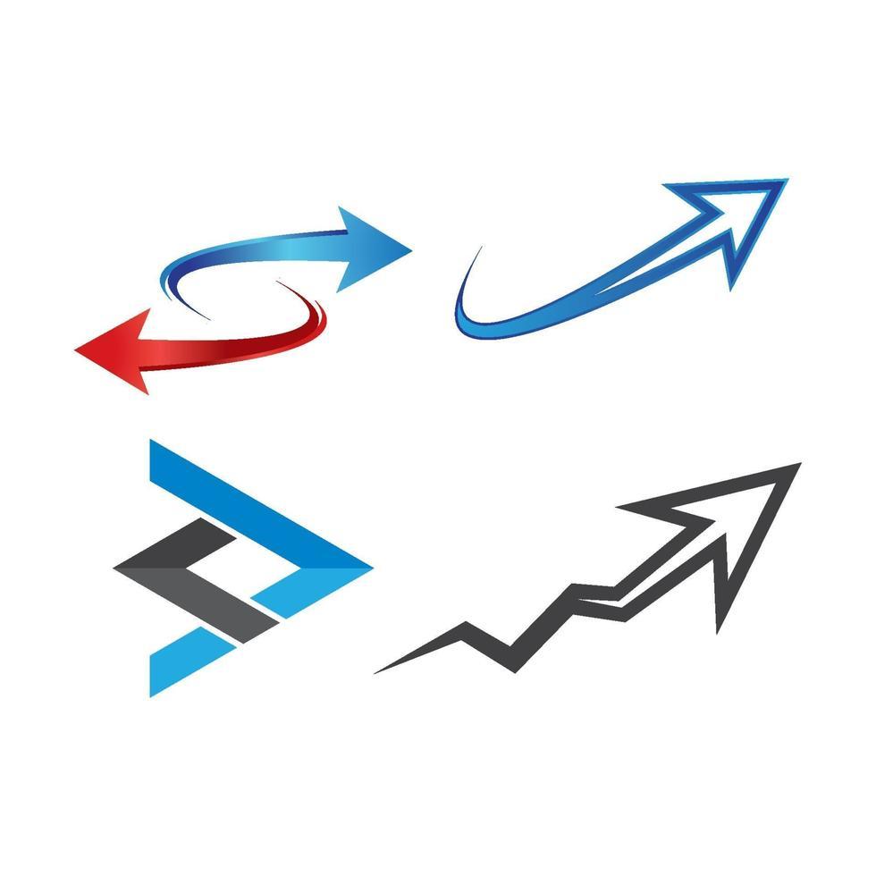 Pfeil Logo Bilder eingestellt vektor