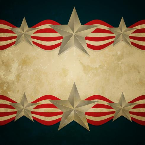 Vintage amerikanische Flagge vektor