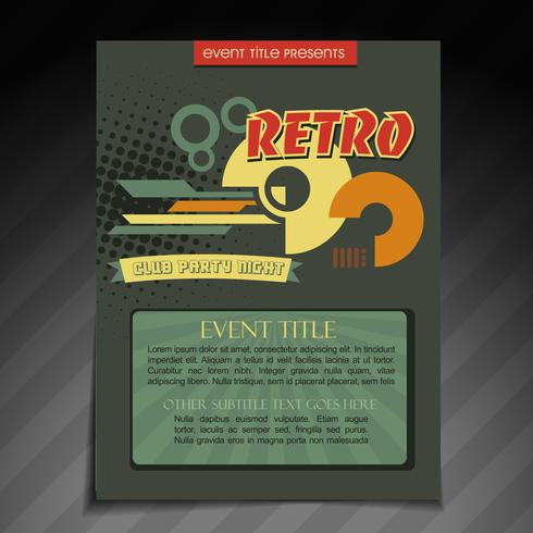 Retro-Broschüre Design vektor