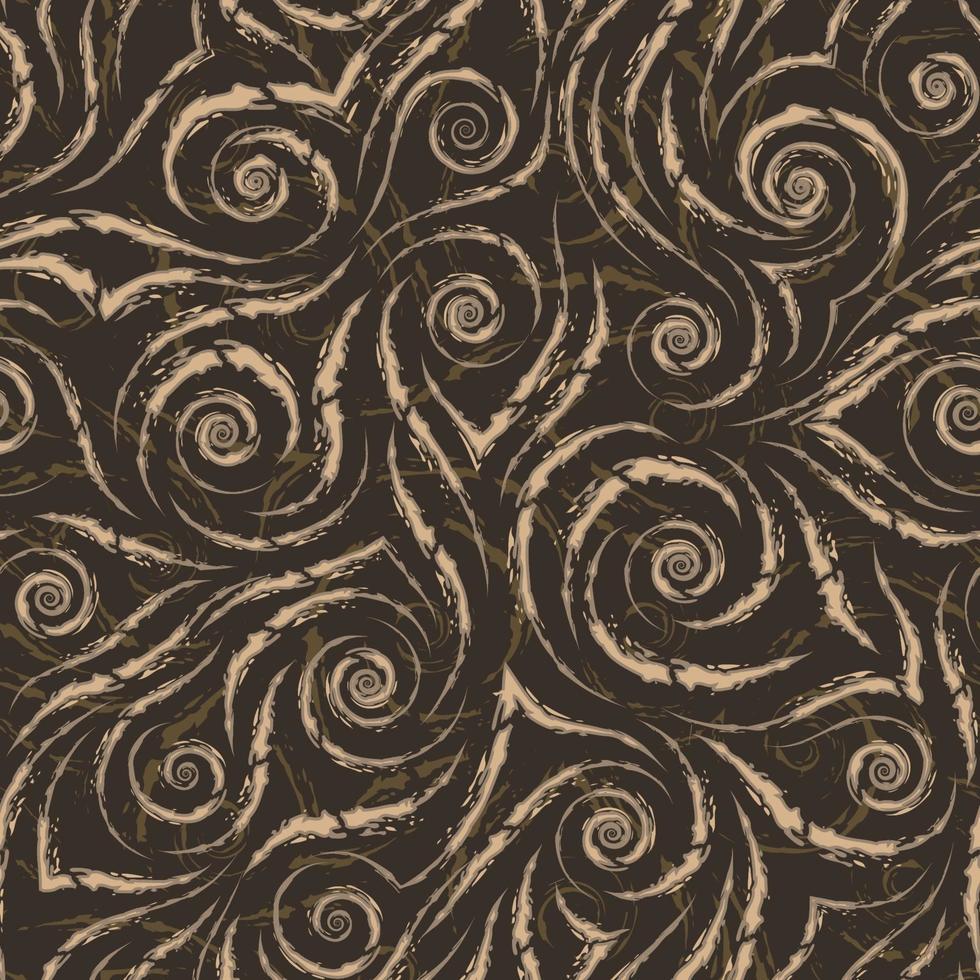lager vektor beige sömlösa mönster. abstrakt konsistens från sönderrivna linjer.