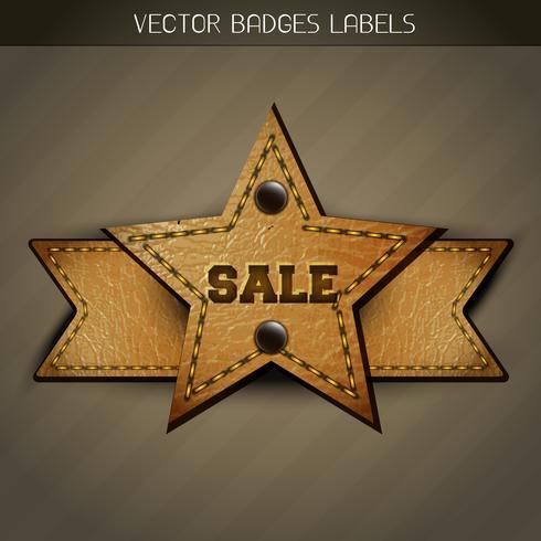 Verkauf Leder Label Design vektor
