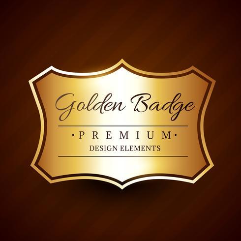 designelement med gyllene premium-märkskyltar vektor