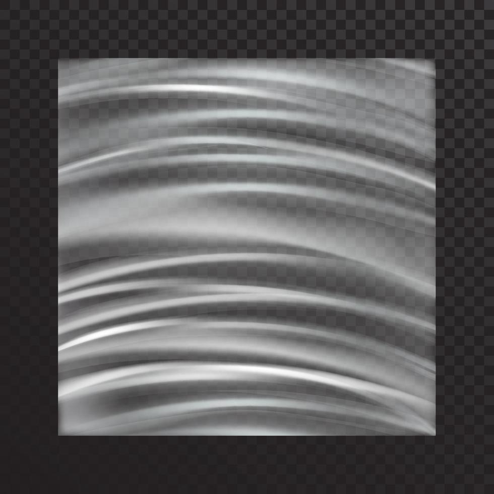 Vektormodell der ungleichmäßig gedehnten weißen Plastikfolie im realistischen Stil vektor