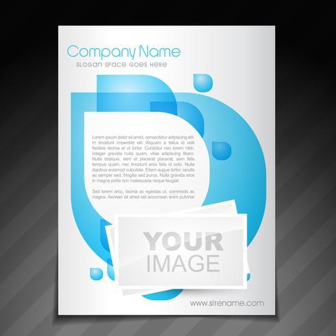 Broschüre Plakatvorlage des Unternehmens vektor