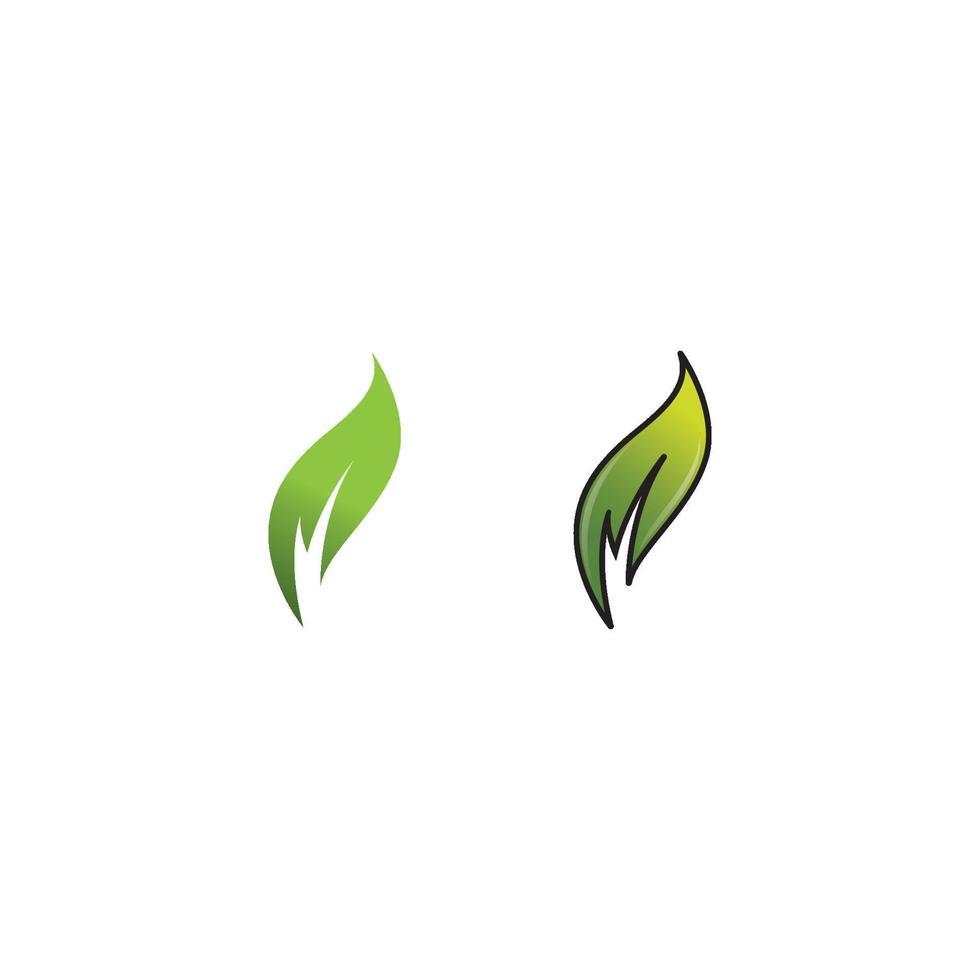 logotyper av gröna träd blad ekologi vektor