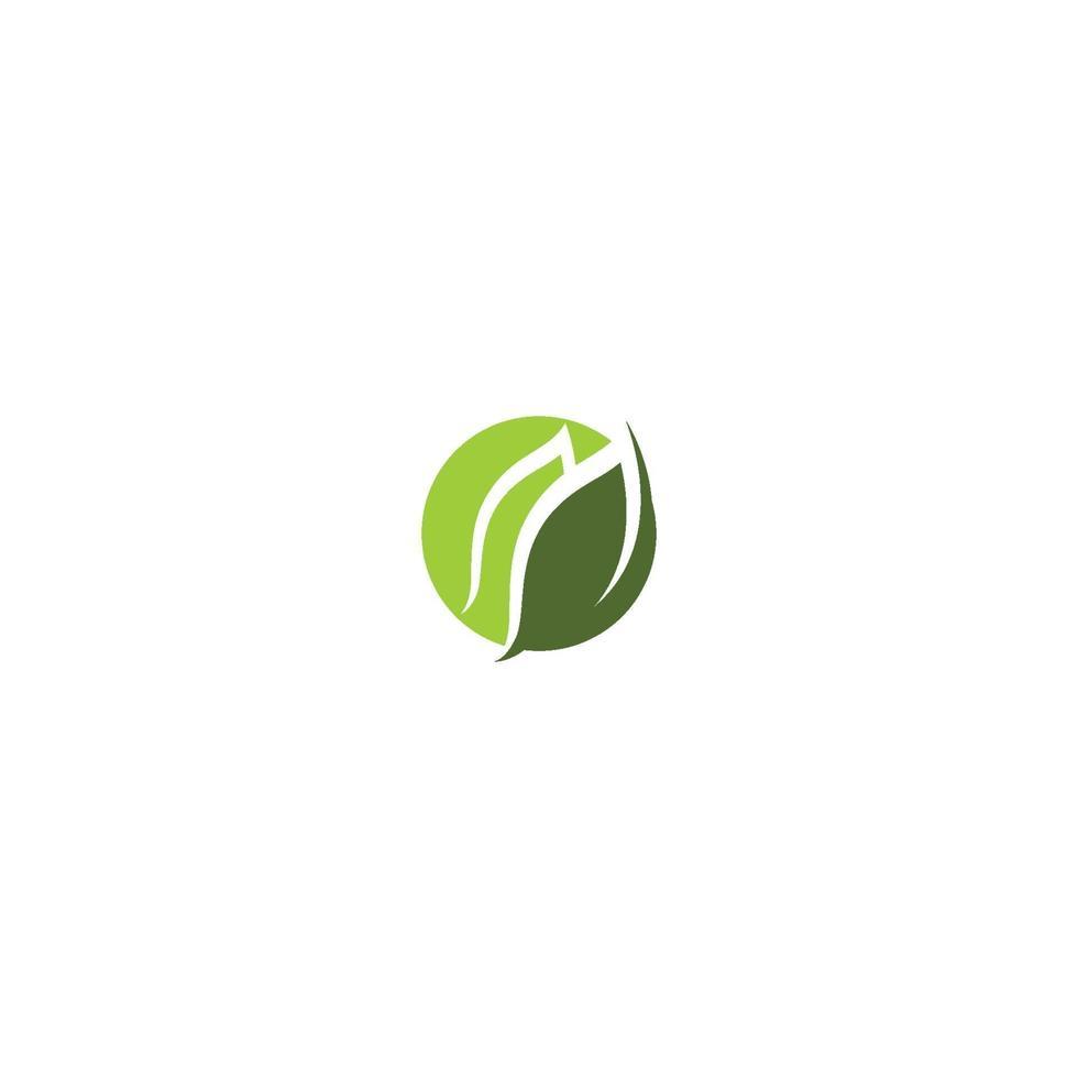 logotyper av gröna blad ekologi natur element vektor ikon