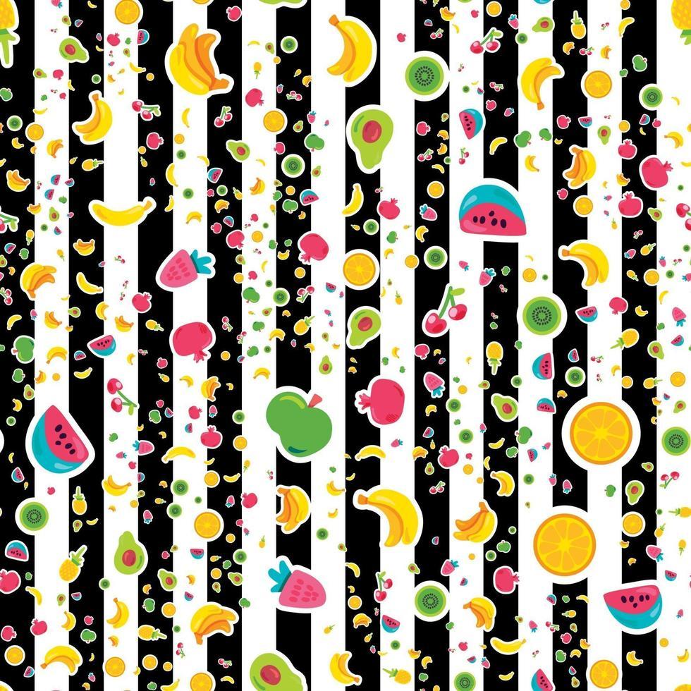 glada frukter sömlösa mönster vektor