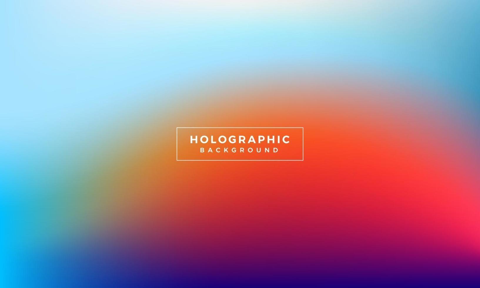 bunter abstrakter holographischer Hintergrund vektor