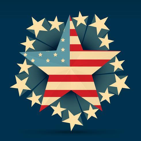 kreativ amerikanska flaggan vektor