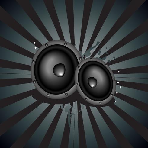 Musikhögtalare bakgrund vektor