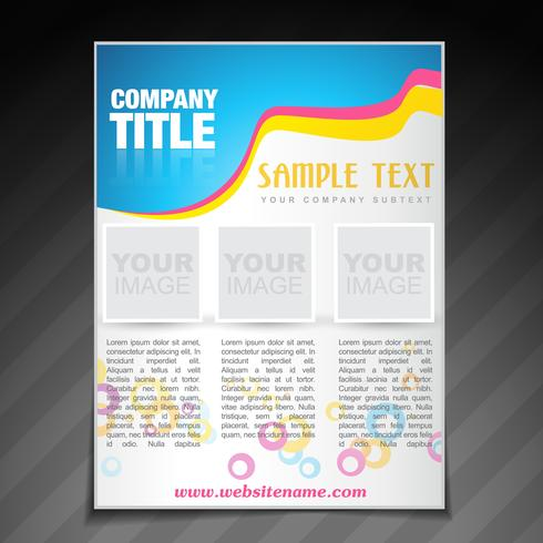 moderne Firmenbroschüre Flyer Plakat Vorlage vektor