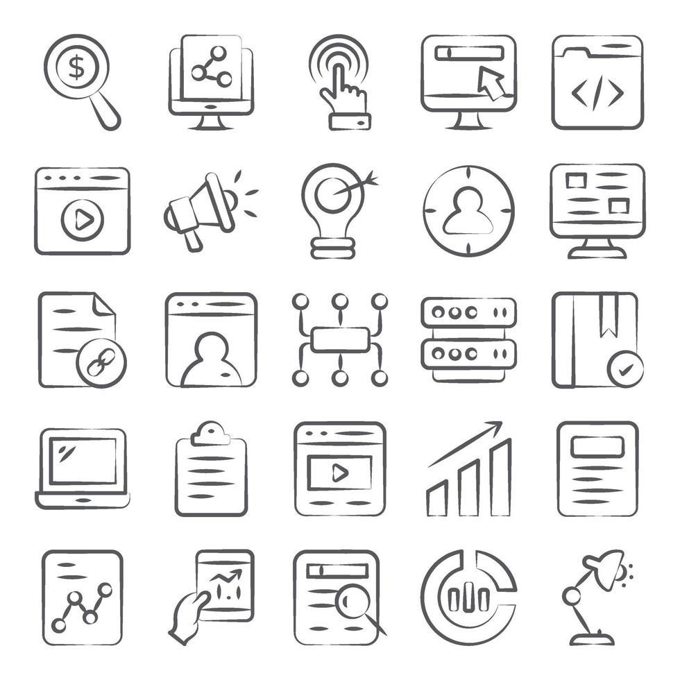 onlineannonsering, media och teknik vektor