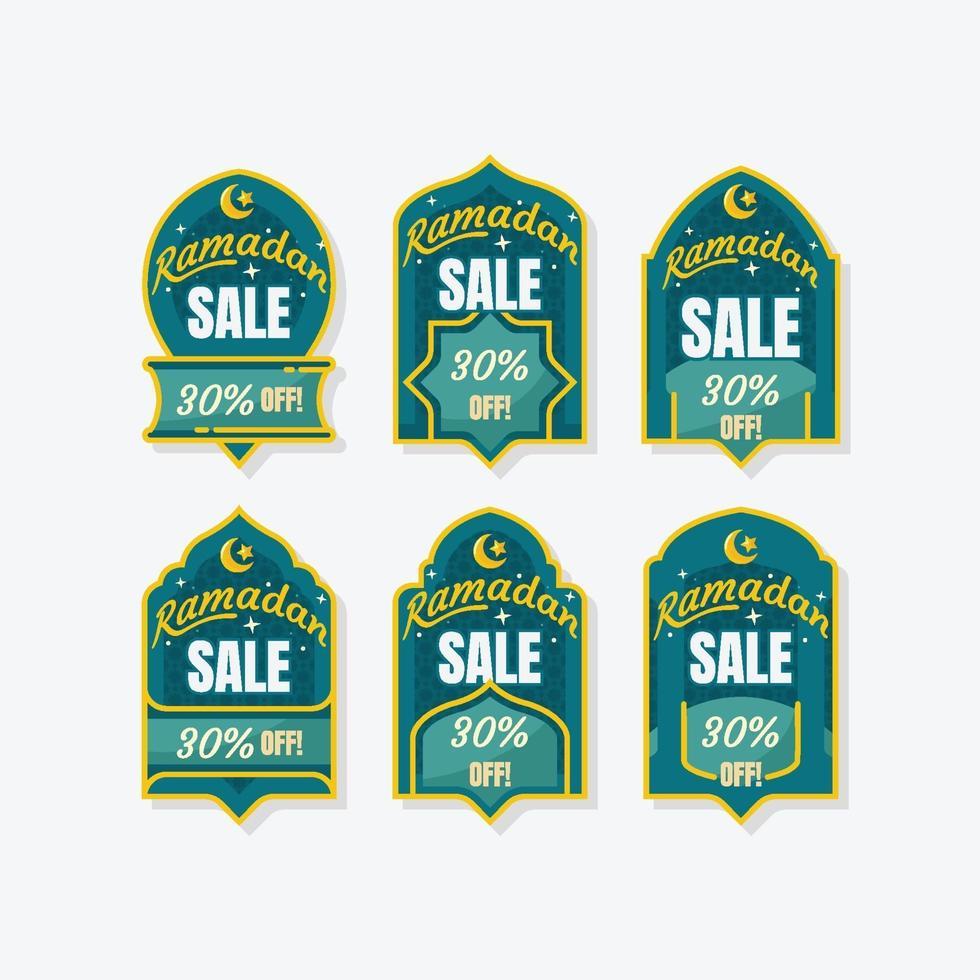 glad ramadan försäljningsetikett vektor