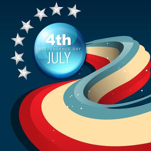 4 juli amerika vektor